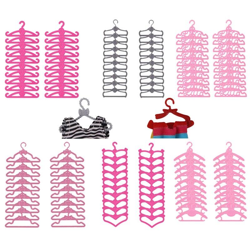 Perchas bonitas de diferentes formas para ropa de muñeca, accesorio adecuado para...