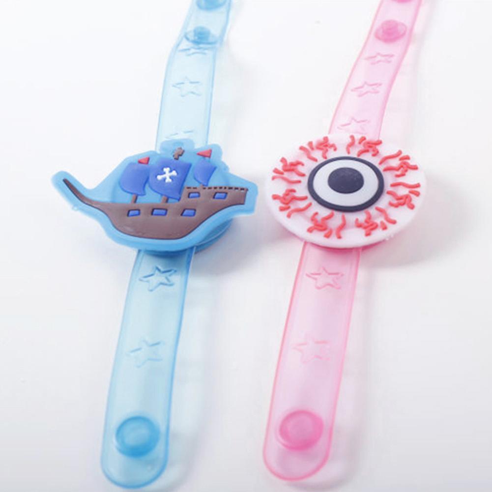Crianças Abóbora de Halloween Crânio Pulseira Relógio LED Glowing Prop Partido Brinquedo Decoração Confortável de Usar