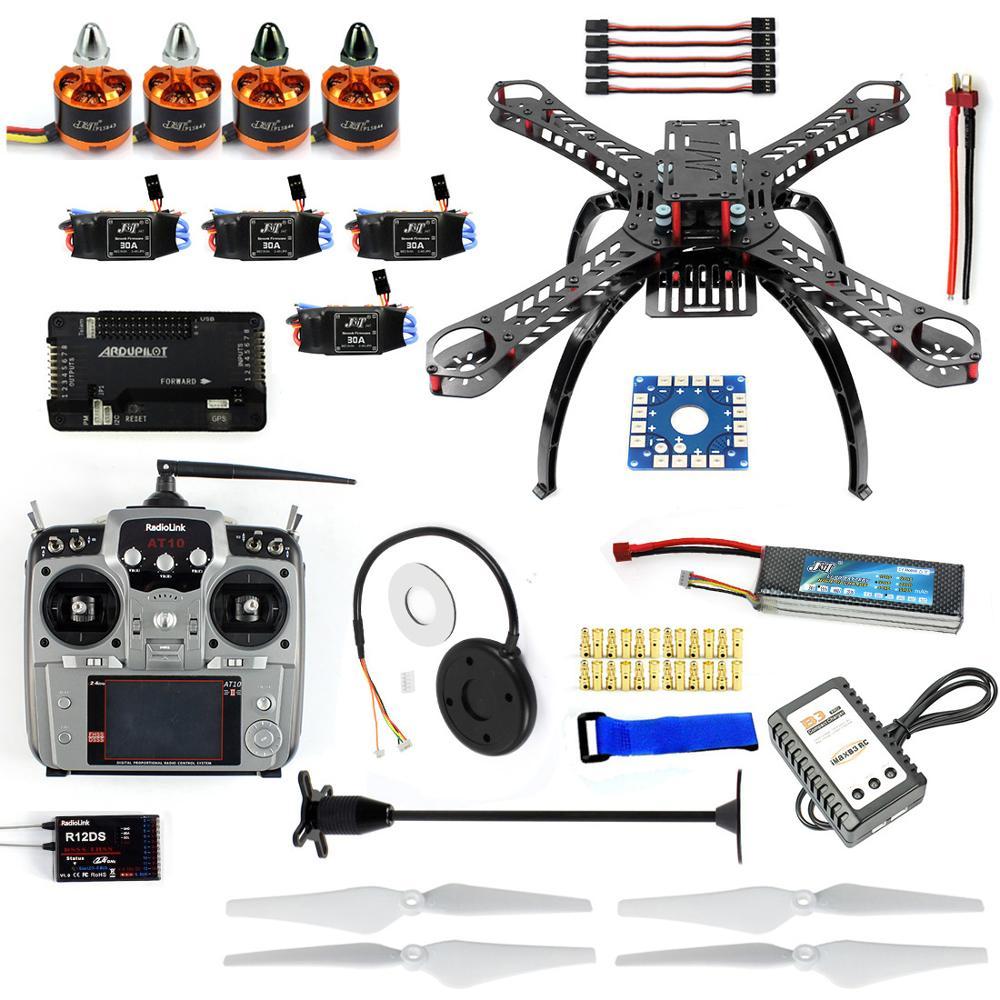 Full Kit DIY RC Drone Quadrocopter X4M380L Frame Kit APM2.8 GPS AT10 TX F14893-N