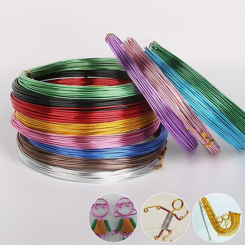 Hot Aluminium Wire Jewelry Accessories DIY Popular 1/1.5/2/2.5mm Craft Wire For DIY Bicycle Handicra