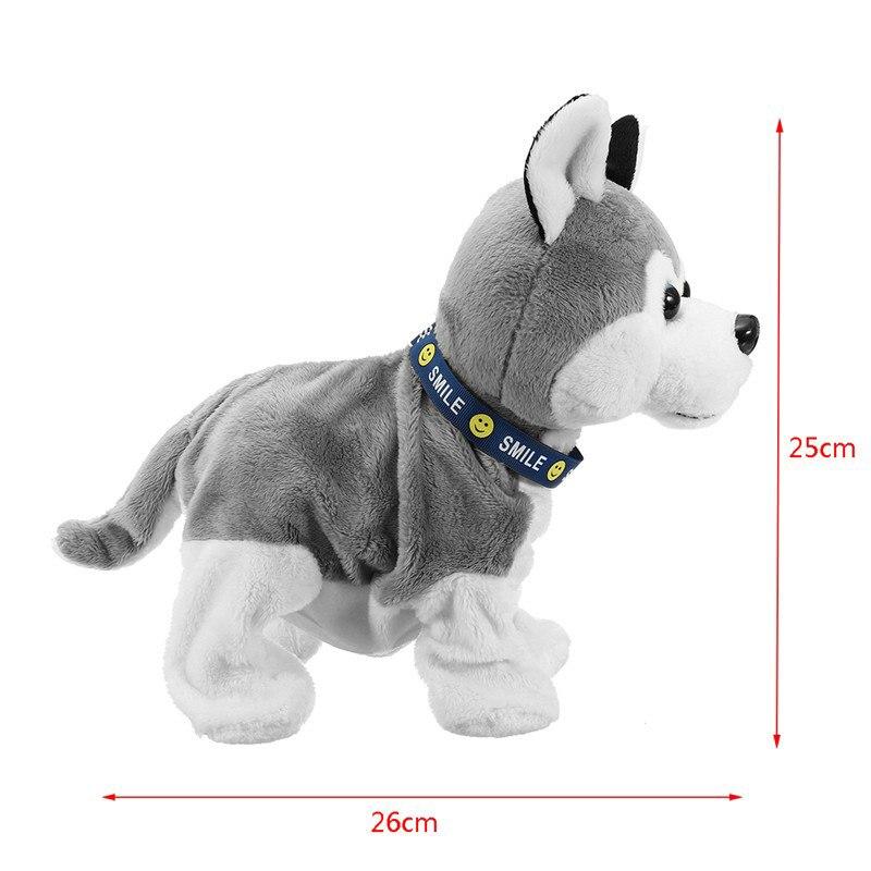 Электронный Робот-собака со звуковым управлением, Детская плюшевая игрушка, Звуковое управление, Интерактивная лающая стоячая гуляющая эл...
