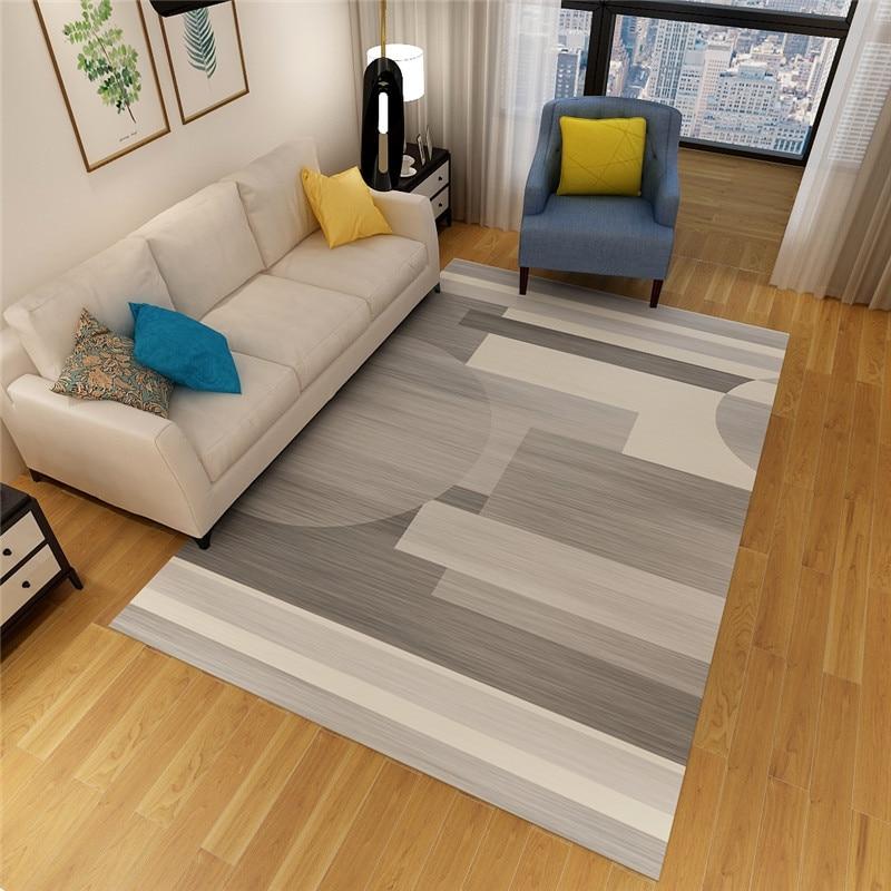 سجادة ذات أنماط هندسية للمنزل وغرفة المعيشة وغرفة النوم ، حديثة وبسيطة ، على الطراز الاسكندنافي