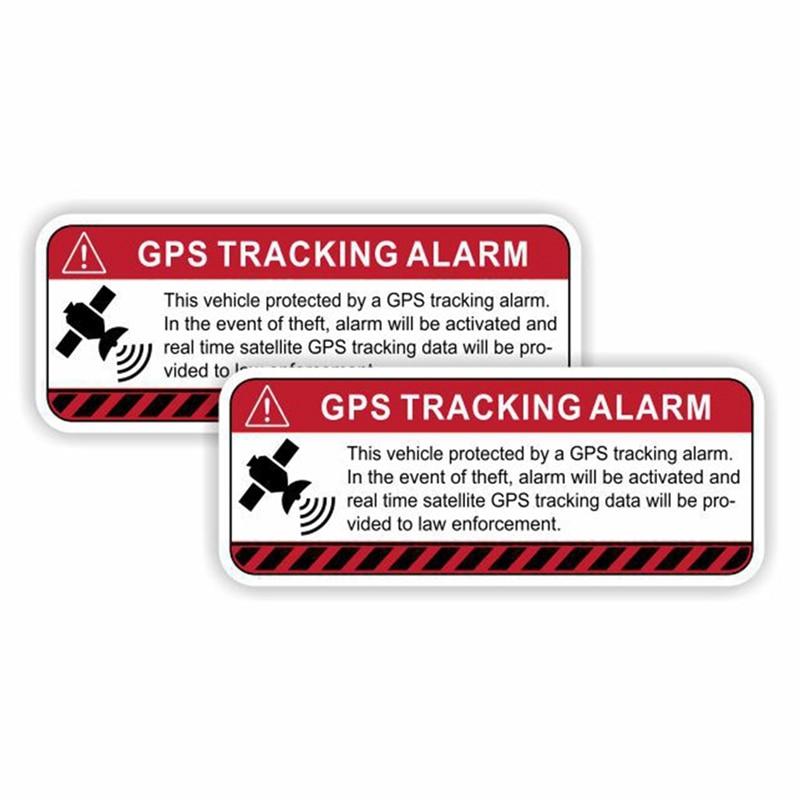 2 шт., предупреждающие светоотражающие автомобильные наклейки с GPS-трекером, аксессуары для сигнализации, Солнцезащитная Виниловая наклейк...