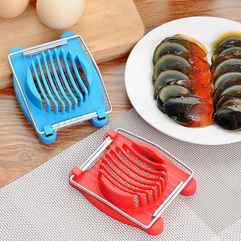 Nuevas herramientas de cocina 2 en 1, rebanador de cocina para huevos de corte multifunción, cortador de sección, molde, bordes de flores, utensilios, herramientas de cocina