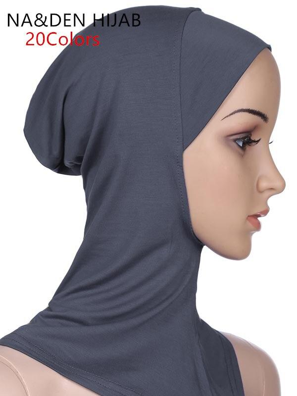 1 шт., нижнее белье, горячая Распродажа, мягкий мусульманский полный Чехол, внутренняя Женская хиджаб шапка, головной платок, мусульманское нижнее белье, головной убор, шапка