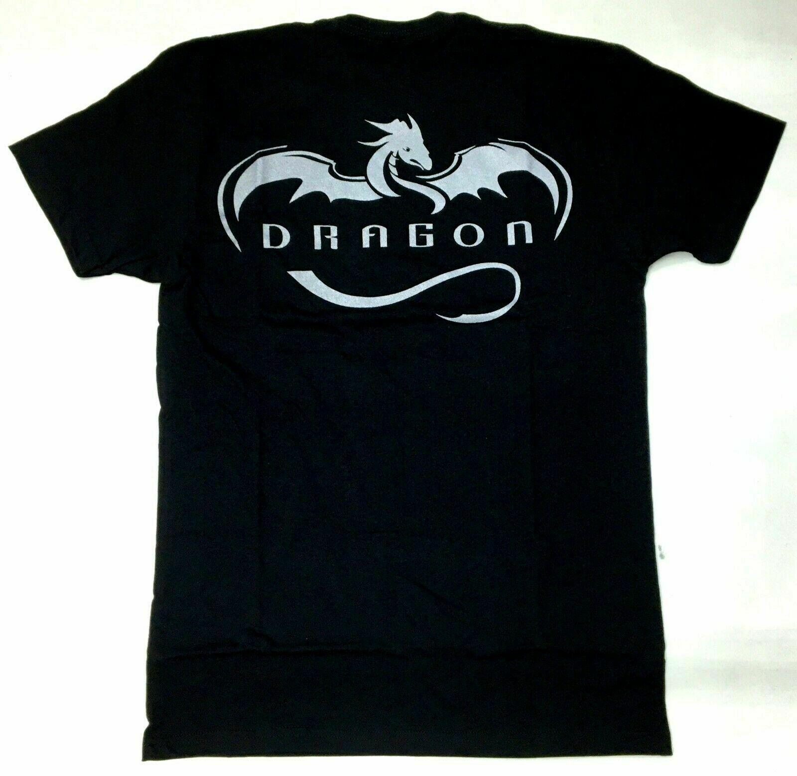 Spacex elon musk prata dragão t camisa nwt 100 autêntico oficial raro s 5xl