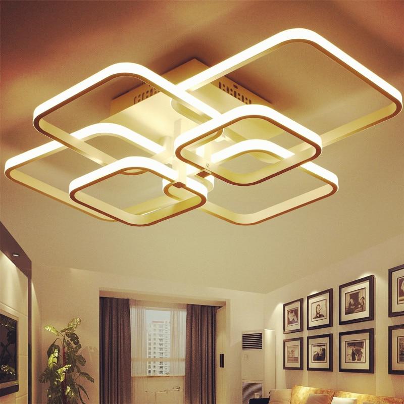 nordic acrilico remoto cotrol luzes de teto aneis circel led ac85 265v lampadas teto