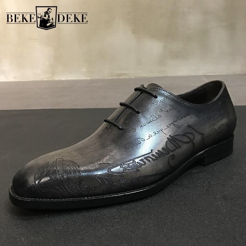 خمر اليدوية جلد البقر الحقيقي أحذية من الجلد الرجال البريطانية جولة تو الأعمال فستان أحذية فاخرة الدانتيل يصل الرسمي ديربي حذاء مسطح