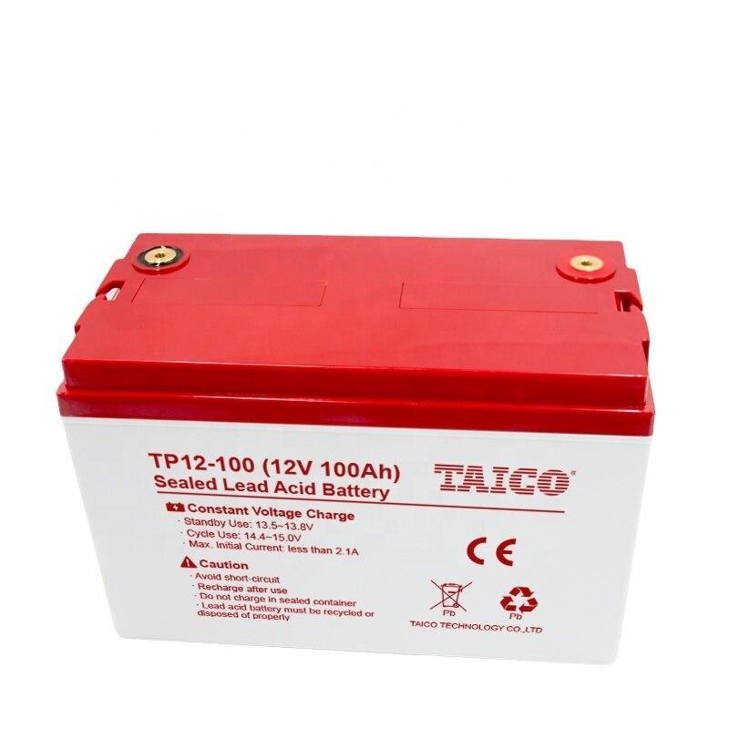 ISO9001 بطارية جل قابلة للشحن 12 فولت بطارية شمسية لتخزين بطارية 12 فولت 100 أمبير