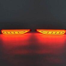 LED Light Guide Rear Bumper Brake Lights Night Driving Lights DRL Case for Mitsubishi Xpander Sport 2017+