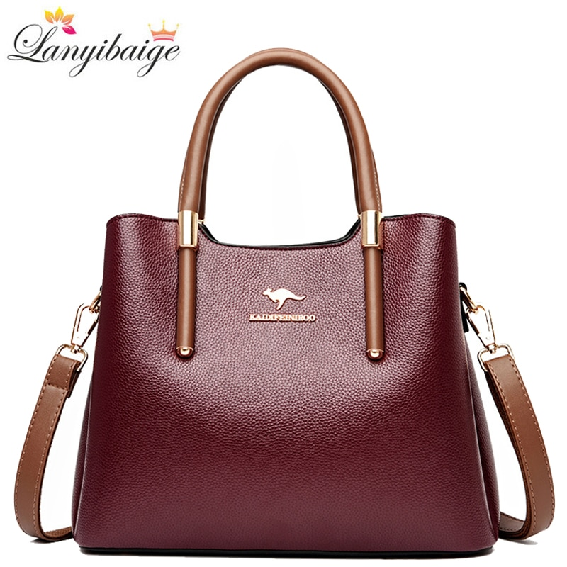 Brand Crossbody Bags For Women 2020 New Designer Tote Bag High Quality Leather Women Handbag Casual Shoulder Bags Sac A Main