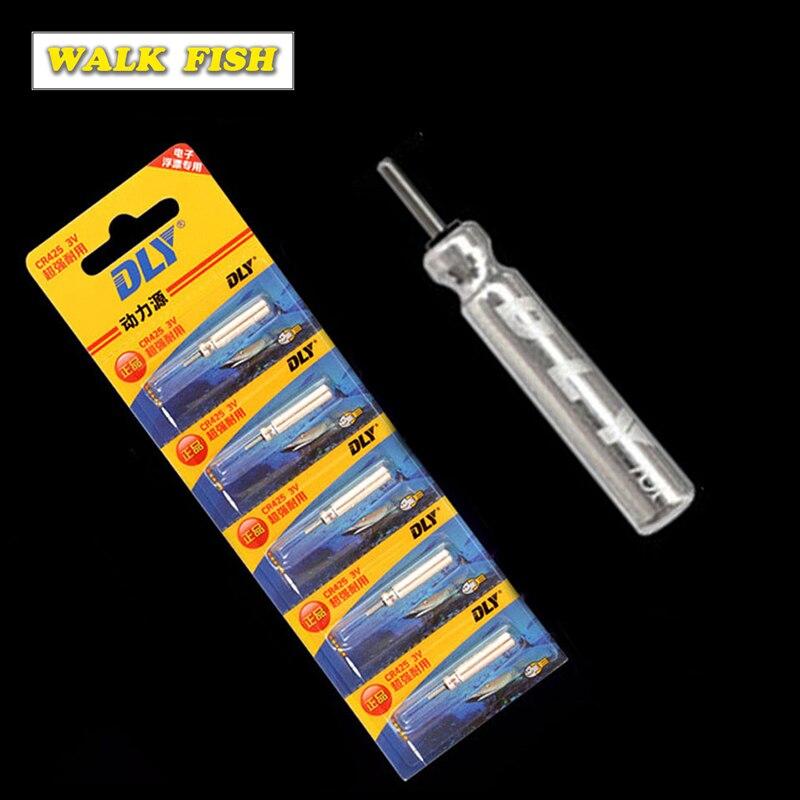 Anzuelo 5 uds/10 uds CR425 batería flotador de pesca batería de pesca nocturna batería de litio Pin celdas accesorio de pesca