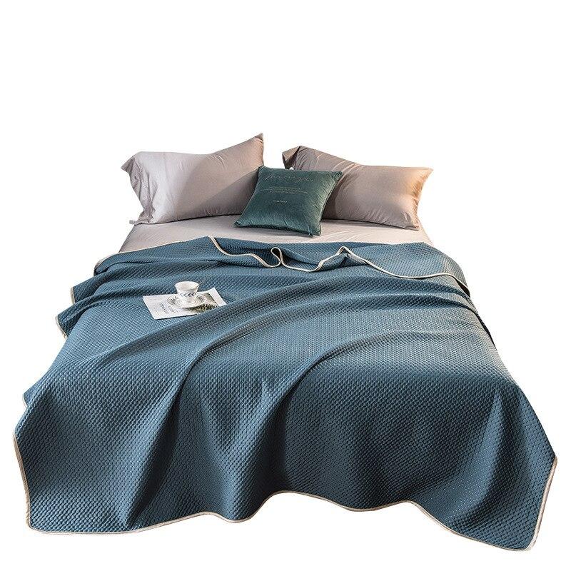 2021 الصلبة بطانية المعزي غطاء السرير لحاف صيفي المنسوجات المنزلية مناسبة للأطفال أطفال الرجال الكبار شحن مجاني