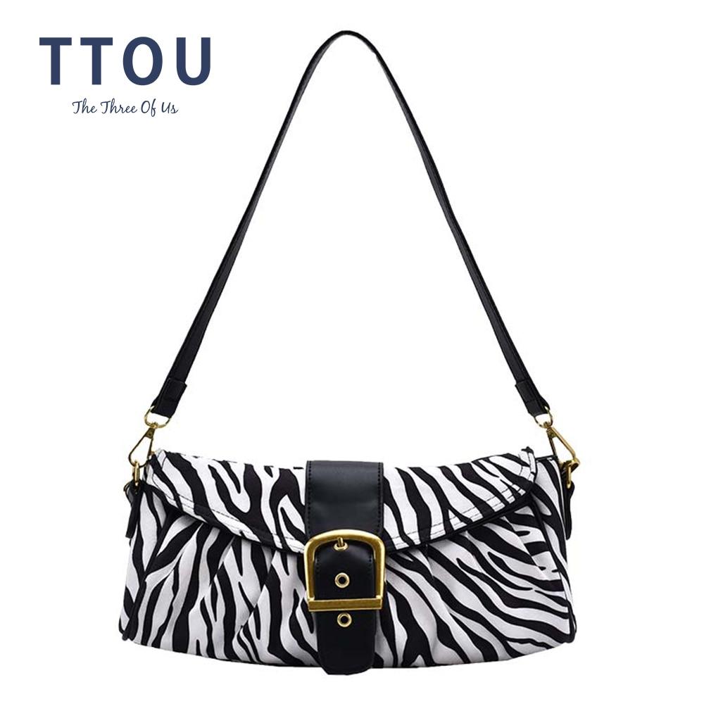 Patrón de cebra bolso Bolsas para las mujeres 2020 de lujo Diseñador de Bolsos de hombro suaves correa de hombro de cuero damas bolsos de mano Bolsas