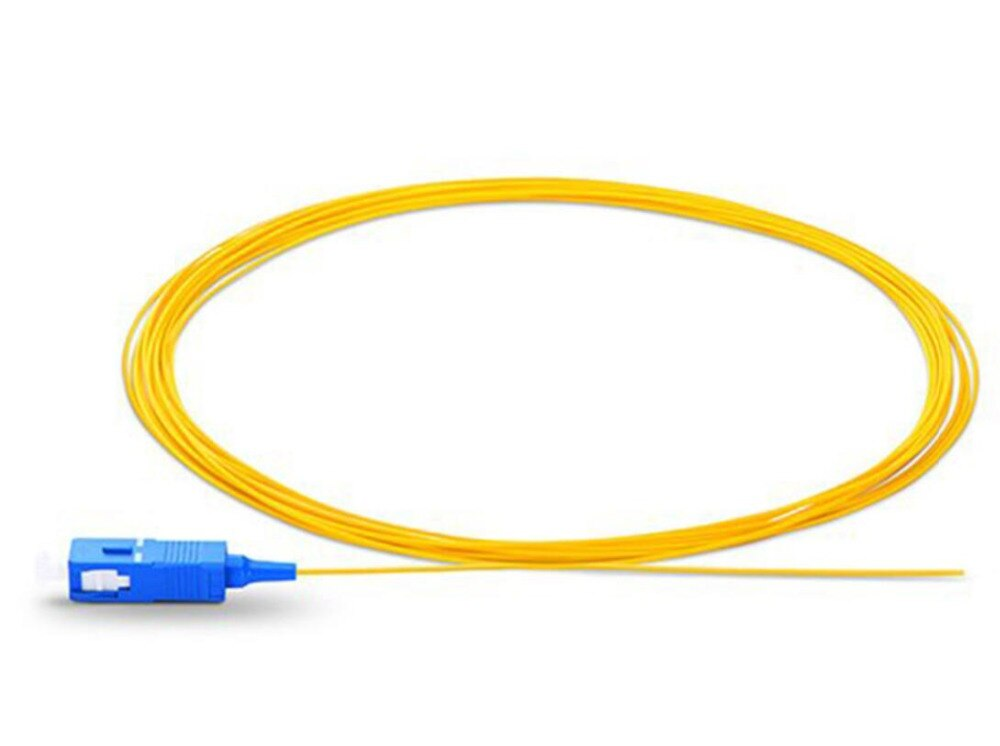 50 قطعة/الوحدة 1M/1.5M/2MSinglemode البسيط PVC 0.9 مللي متر SC/UPC الألياف البصرية الضفيرة SC/UPC ضفيرة