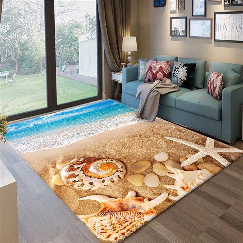 المحيط شاطئ حجر نمط طاولة شاي الكلمة حصيرة/السجاد لغرفة المعيشة غرفة نوم منطقة السجاد حجم كبير السجاد 200*300 سنتيمتر المنزل الحديث