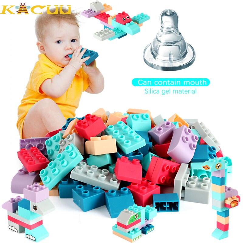 Bloques de construcción suaves para bebé, bloques de marca compatibles, bloques de seguridad DIY, bloques construcción suave, juguetes para niños, regalos