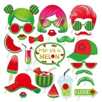 baby shower diy summer watermelon photobooth props happy birthday party decorations watermelon photobooth props kid party favors