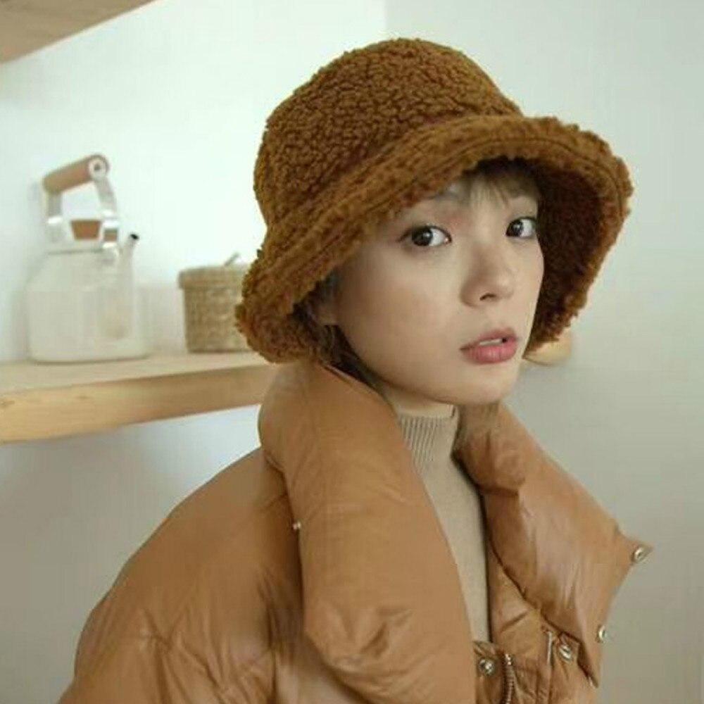 Gorro de pescador para mujer, gorra de mujer, para otoño e invierno, mantener el calor, Color sólido, pequeña sombra de ala, plegable, de moda