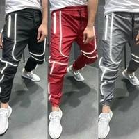 men luminous pants waterproof drawstring trousers winter men causal sport jogging pants joggers gym trousers