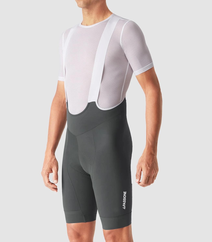 Pimmer 2020 cinza ciclismo bib shorts men vermelho alta densidade esponja pa à prova de choque brethable coreia lycra 6 horas passeio bicicleta bib shorts