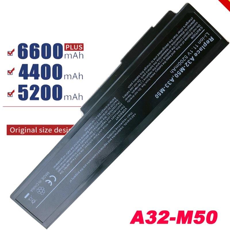 Batería para ordenador portátil Asus N53, N53J, N53JF, N53JG, N53JL, N53JN, N53JQ X64, A33-M50, l0772051, l9007c6, 15G10N373800