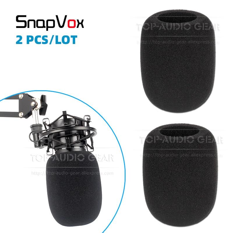 2 uds parabrisas de espuma de esponja de micrófono para Rode Broadcaster K2 NT1A NT1000 NT2000 NT2A grabación Mic Pop Filter