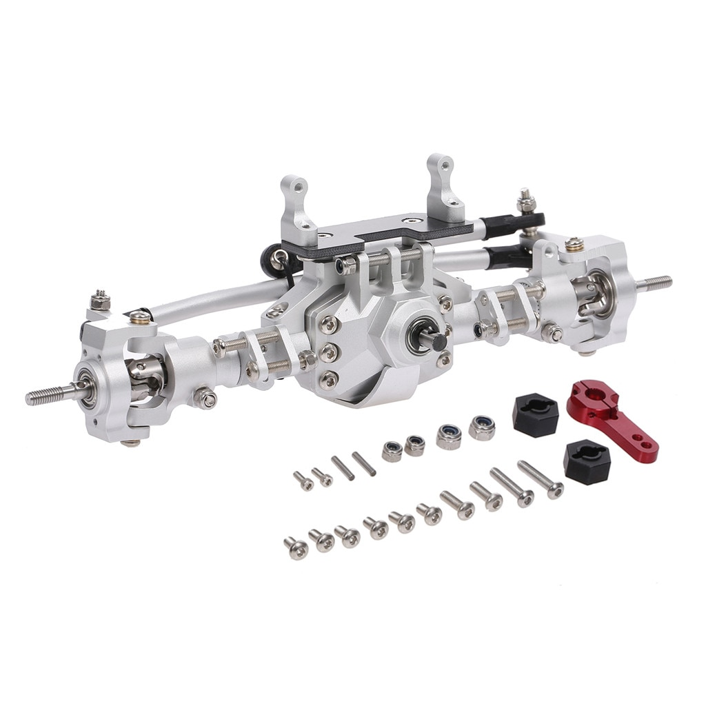 SCX10 Metal CNC anodizado frente completo eje del Portal trasero para 1/10 coche trepador de control remoto Axial SCX10 II 90046 90047 piezas de mejora