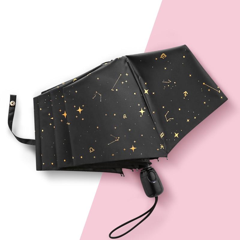 Paraguas Plegable automático para mujer, sombrilla de protección solar, Anti-Uv, Parapluie