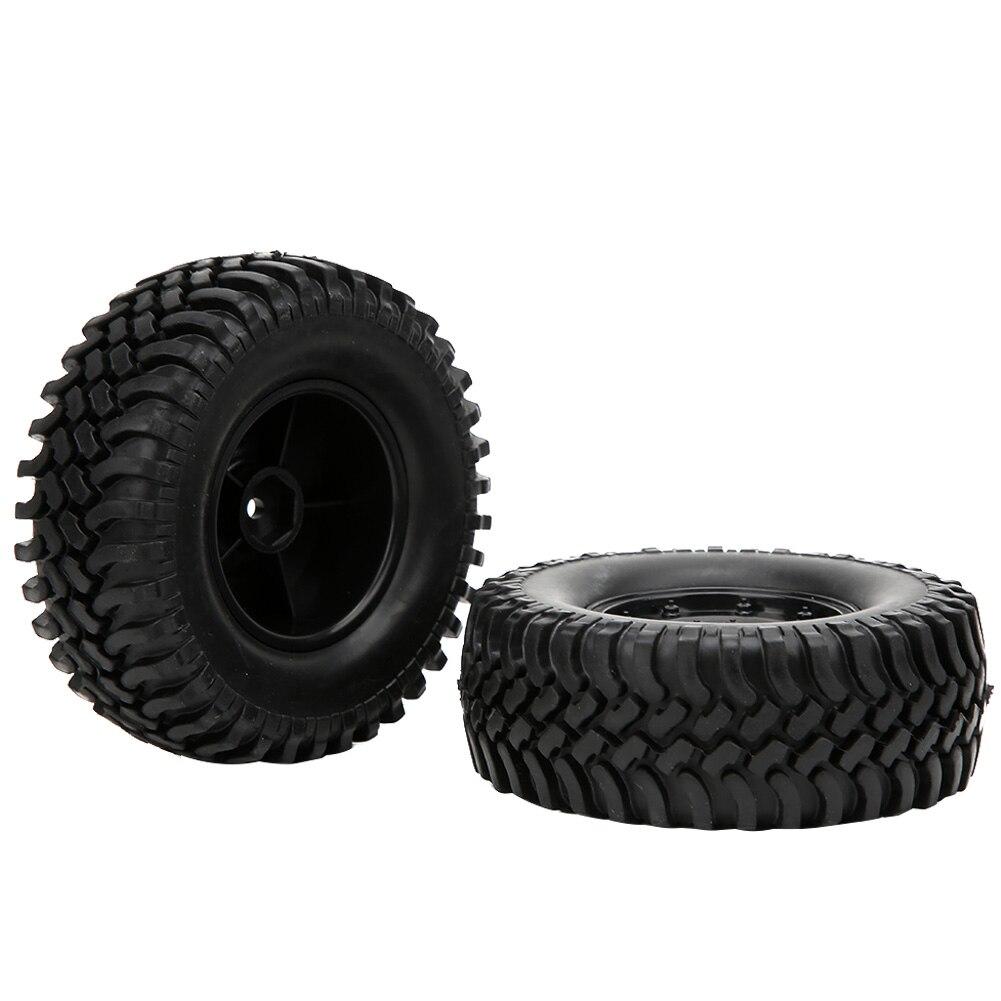 2 шт. Универсальный RC автомобиль шины комплект Пластик резиновые шины и колесные диски 12 мм концентраторы для 1/10 RC автомобильные аксессуары ...