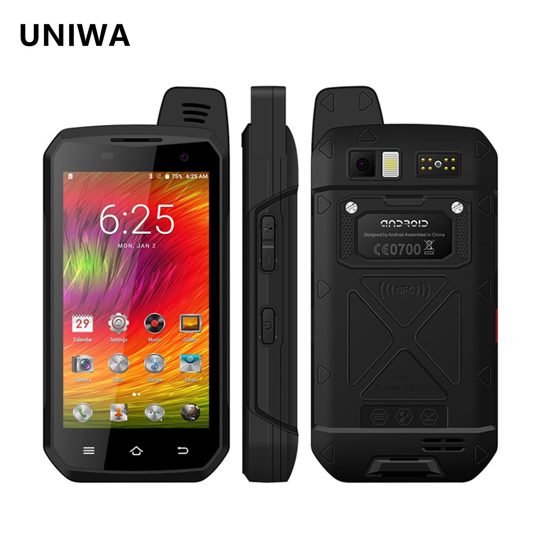 UNIWA B6000 IP68 Waterproof Smartphone Zello PTT Walkie Talkie 4GB+64GB 5000mAh NFC Android 6.0 Octa Core Cellphone