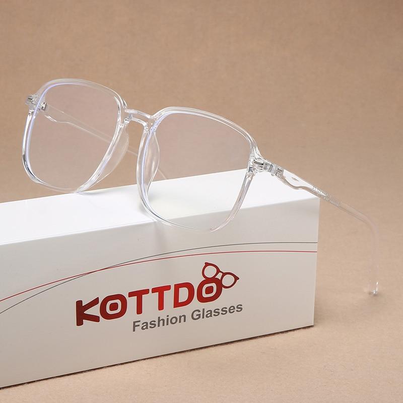 2020 moda de plástico feminino óculos quadrados grandes dimensões óptica homem transparente lente clara computador óculos quadro