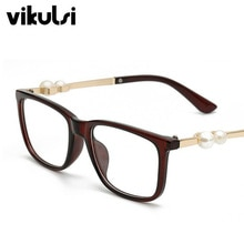 Fashion Transparent Square Pearl Glasses Clear Frame Women Spectacle Myopia Glasses Men EyeGlasses Frame Nerd Optical Clear Frames