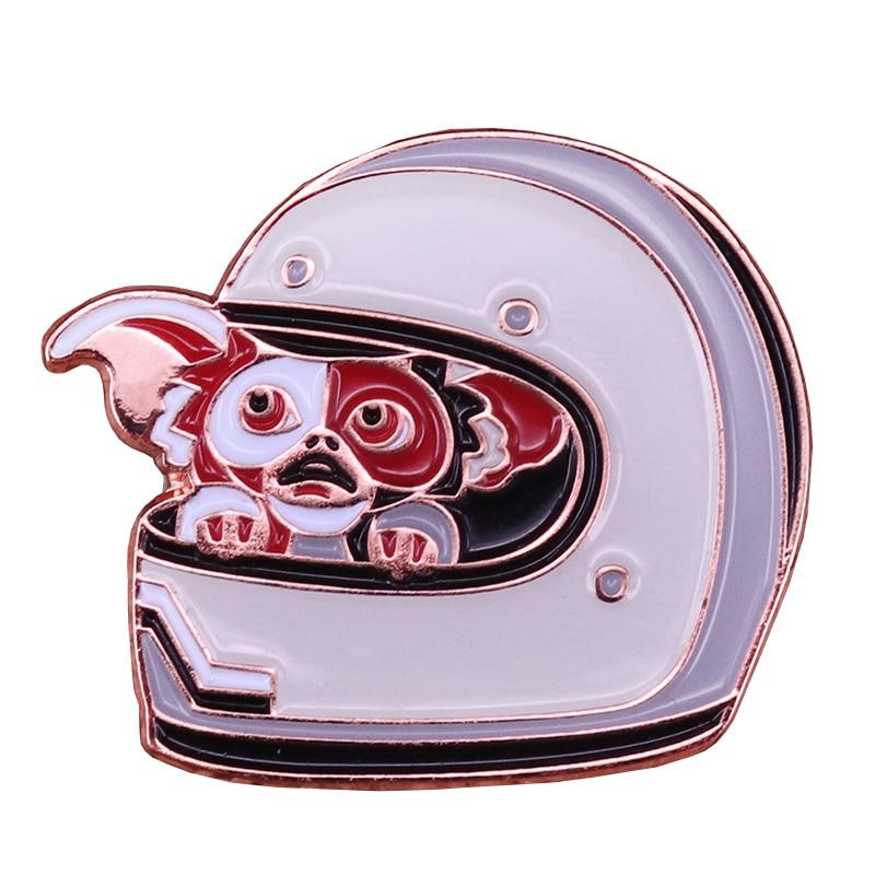 Gremlins astronaut enamel pin space helmet badge retro 80s horror film brooch magic Christmas gift cute asexual pride accessory