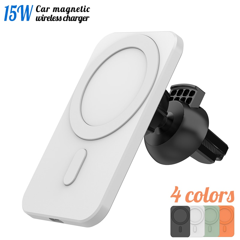 2021 Qi Magnetic Wireless Car Charger Mount for iPhone 12 Pro Max mini Magsafe Fast Charging Wireless Charger Car Phone Holder