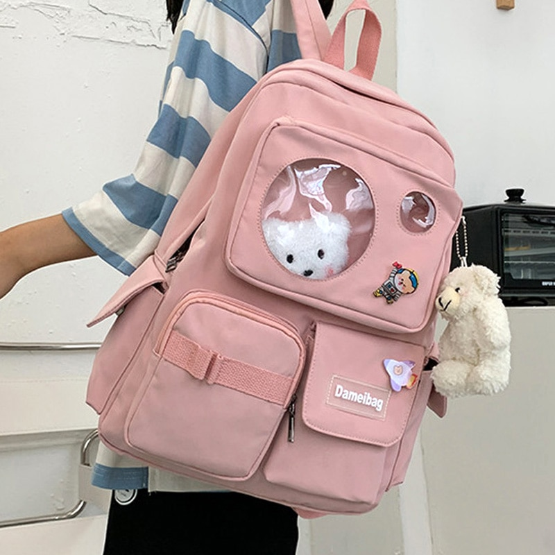 EnoPella Travel Mochila Kawaii Waterproof Women Backpack Girls School Bag Fashion Female College Boo