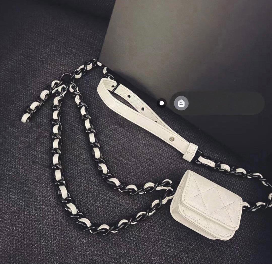 الفاخرة تصميم المرأة حقيبة الإناث حقيبة حقيبة امرأة 2021 المرأة العلامة التجارية الخصر سلسلة سماعة حزام حقيبة الخصر اكسسوارات