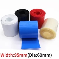 width 95mm pvc heat shrink tube dia 60mm lithium battery insulated film wrap protection case pack wire cable sleeve colorful
