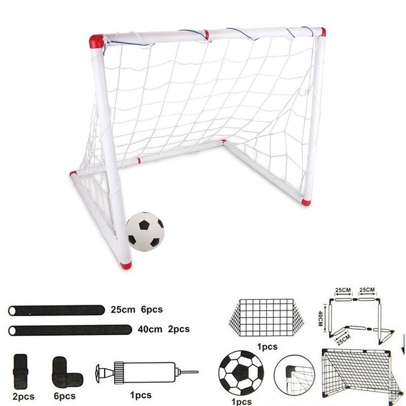 Jogo de Futebol ao ar Livre Esporte Brinquedo Família Jogo Menino Crianças Plástico Futebol Objetivo Define qw