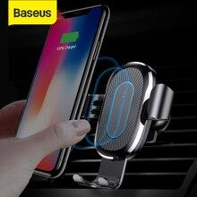 Chargeur sans fil de voiture Baseus Qi pour iPhone X Xs XR 8 7 10W chargeur rapide support de voiture pour Samsung S9 S8 chargeur de téléphone de voiture