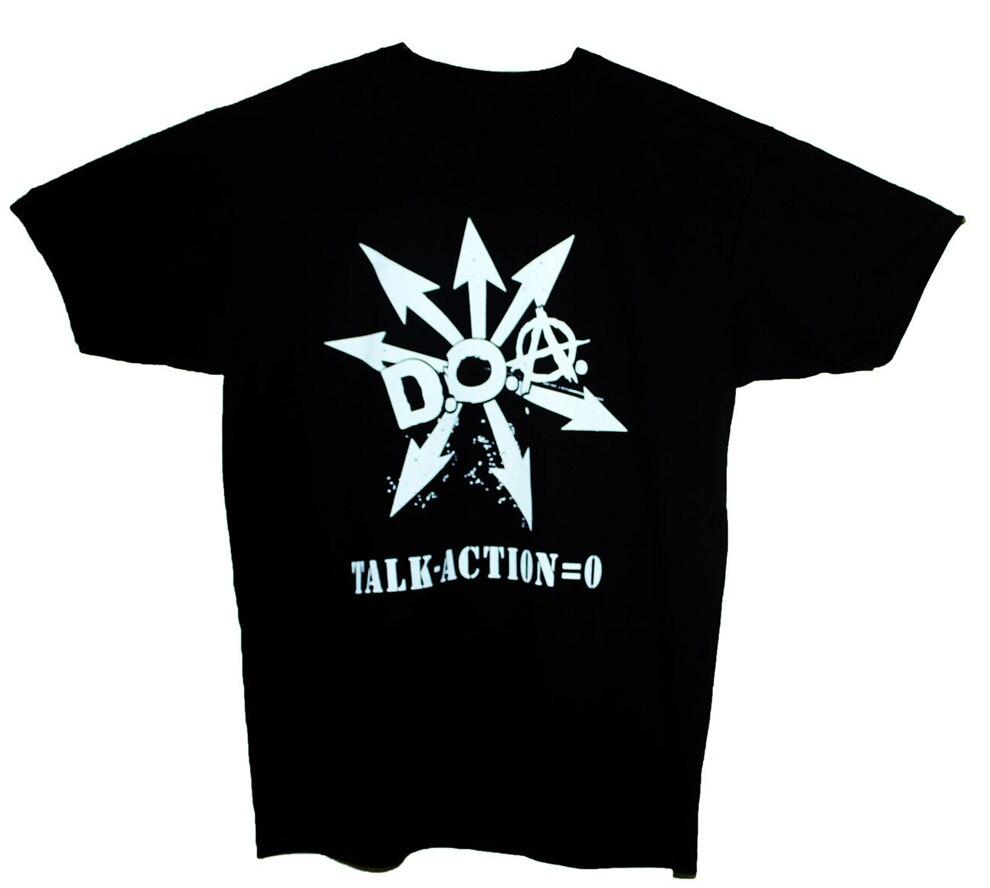 D.O.A. T Hemd Anarcho Punk Rock Keime Schwarz Flagge Politische Band Graphic Tee Graphic Tee Shirt
