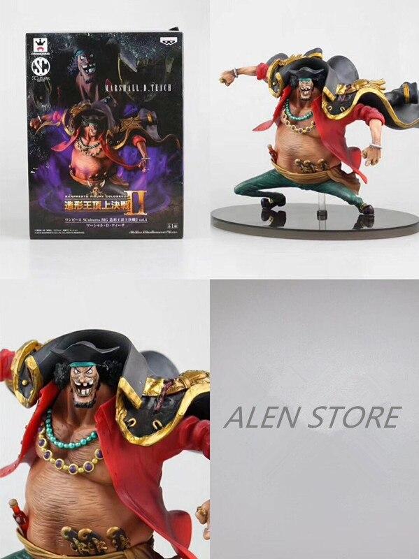 Anime One Piece Blackbeard Marshall.D.Teach PVC figura de acción muñeca coleccionable modelo bebé juguete regalo de Navidad para niños