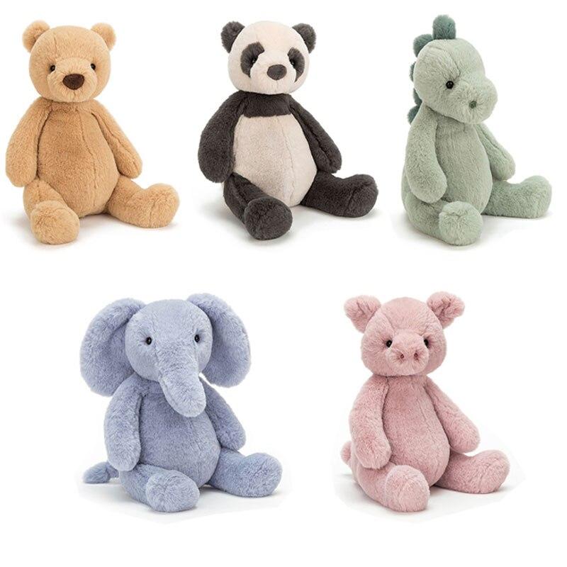 Милые мягкие пушистые волосы, слоны, свинья, коричневый мишка тедди, Детская искусственная панда, искусственные Мультяшные животные, Детска...
