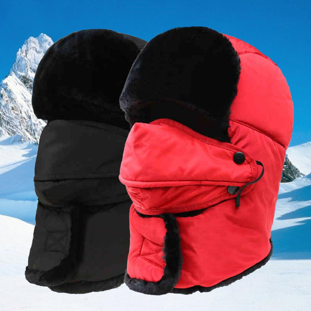 Winter Cap Unisex Thick Warm Face Neck Protection Bomber Hats  Windproof Snowproof Hat Cap Bike Bicy