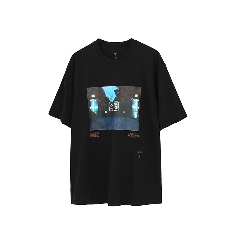 American high street digital direct jet printing T-shirt loose Street Travis scott23 Short Sleeve Tee