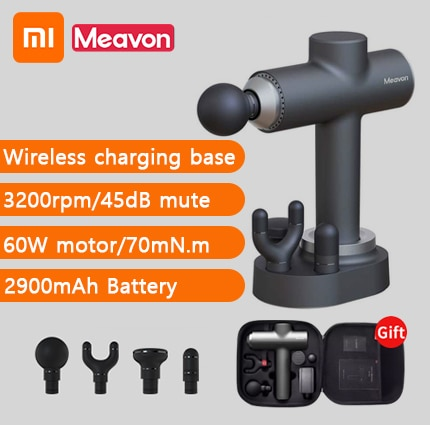 Xiaomi Meavon, pistola de masaje xiaomi, máquina de pistola masajeadora profunda para relajación muscular, masajeador de Fascia, masajeador corporal xiaomi de 3 modos