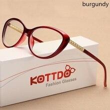 KOTTDO lunettes de vue de chat cadre prescription lunettes optiques hommes lunettes montures lunettes pour femme cadre