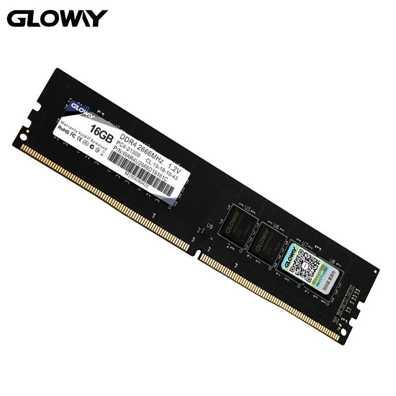Gloway WAR series ddr4 Ram 4g 8g 16G 2666MHZ 8 gb 16gb 1.2v PC4-21300 لذاكرة ذاكرة وصول عشوائي مكتبية