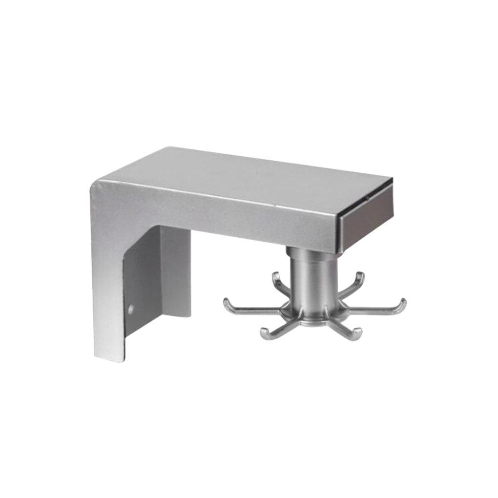 Soporte giratorio de cocina con soporte autoadhesivo, organizador de 6 ganchos de...
