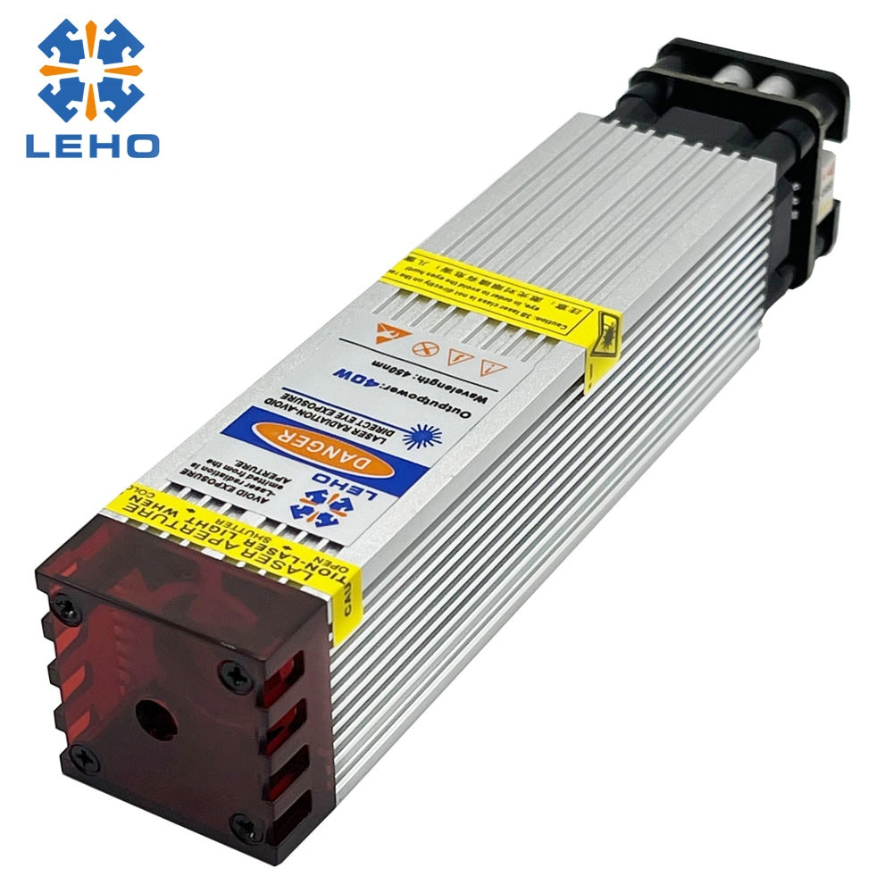 LEHO 40W Laser Module Laser Head Block Light Eye Protection Design Can be Used for CNC3018 3018PRO 6550 5040